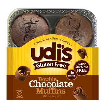 Udi's Gluten-Free Double Chocolate Muffins 12oz 4p