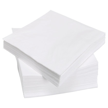 White Napkins 100 pack