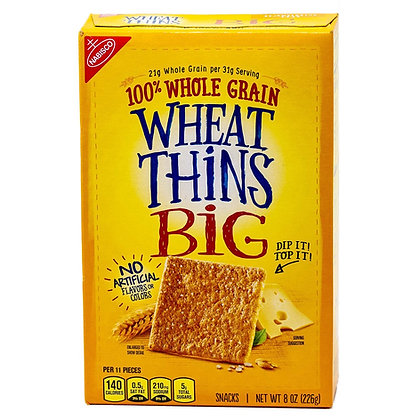 Nabisco Crackers Wheat Thins Big Whole Grain 8 oz
