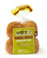Udi's Gluten Free Hamburger Bun Whole Grain 4pk