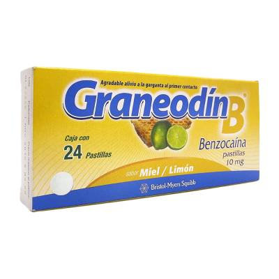 Graneodin B 10 mg tablets honey lemon 24 pcs