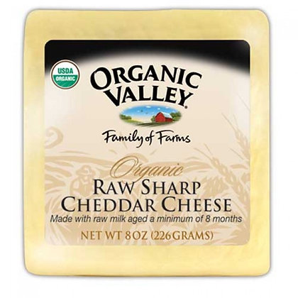 Organic Valley Sharp Cheddar Cheese 8 Oz