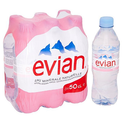 Evian Water 500 ml (6 pack)