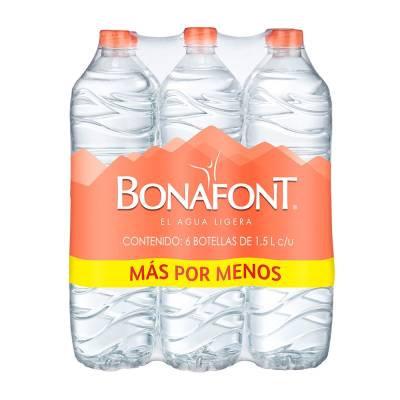 Bonafont Bottled Water 1.5 lt - 6pk
