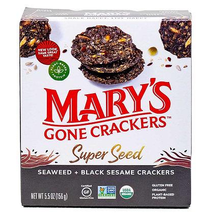 Mary's Gone Crackers Seaweed+Black Sesame Gluten Free 5.5 oz