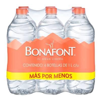 Bonafont Bottled Water 1lt-6pk