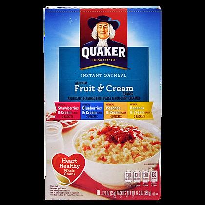 Quaker Instant Oatmeal Fruit & Cream 280 g