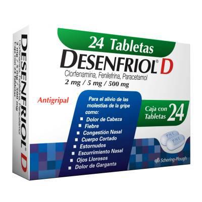 Desenfriol D flu tablets 24 pcs