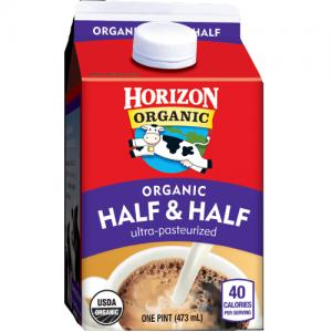 Horizon Organic Half & Half coffee creamer