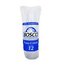 Bosco disposable cups glass size 12 20 pcs
