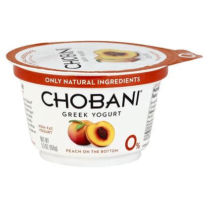 Chobani Peach Non Fat Greek 5.3 oz