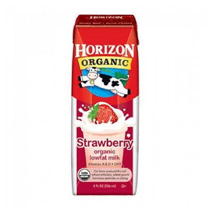 Horizon Organic Milk Strawberry 8 Oz