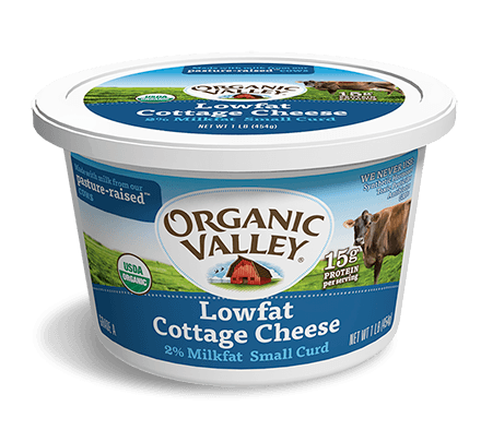 Organic Valley Cottage Low Fat Cheese 16 Oz