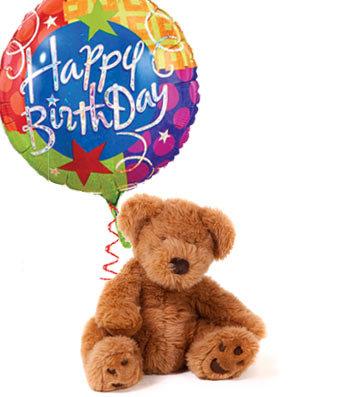 Happy Birthday Bear & Balloon