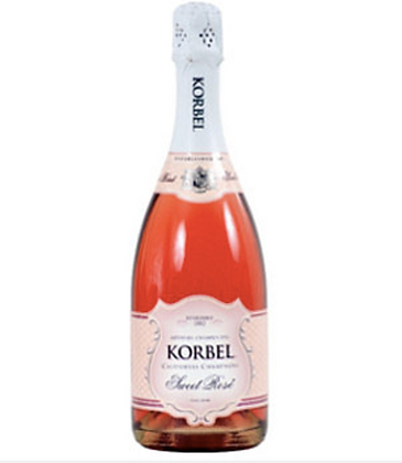 Korbel Sweet Rose Sparkling Wine (750 ml)