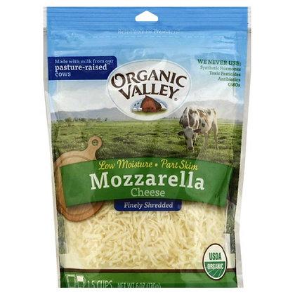 Organic Valley Shredded Mozzarella 6 Oz