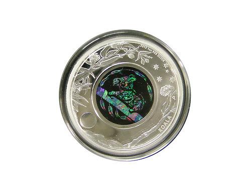 2012年 オパールシリーズ 「コアラ」銀貨 プラ製ディスプレイスタンド付き
