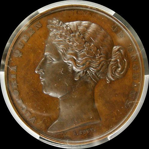 1862年 ヴィクトリア ロンドンユニバーサル展 50 mm メダル PCGS SP64 唯一最高鑑定