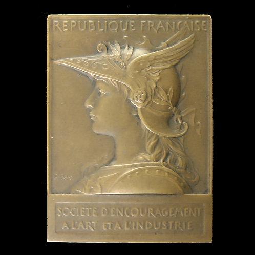 1909年芸術と産業振興会記念銅メダル O.Roty作ナンシー