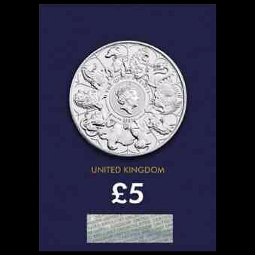 2021年英国クイーンビースト£5BUコイン