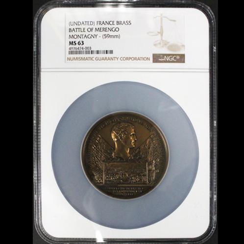 最高指揮官ナポレオン・ボナパルト 1800年マレンゴの戦い記念メダル NGCでは唯一最高鑑定 希少!