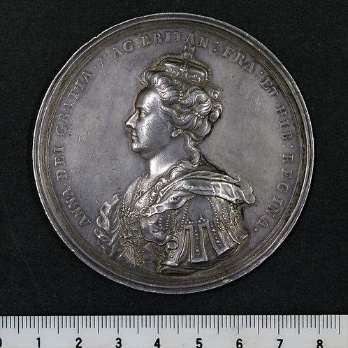 1707年 大英帝国 イングランド王国とスコットランドの連合記念大型銀メダル