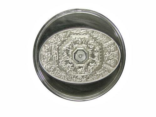 ナノチップ 2014年 フィレンツェ大聖堂天国の天井画像のナノチップが埋め込まれた銀貨