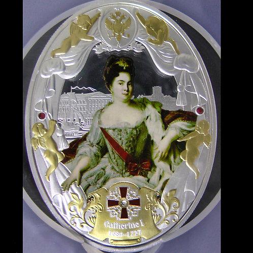 「ピーター1世の二番目の妻であるキャサリン1世」の銀貨 NGC鑑定で PF69UCの最高鑑定
