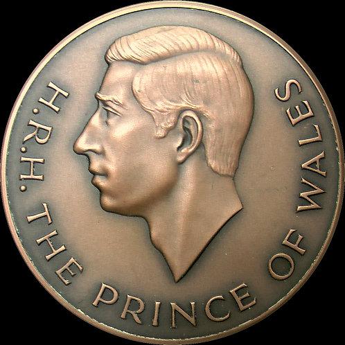 1994年 ロイヤルミント カールナーヴォン城で行われた英国皇太子の叙任25周年記念銅メダル