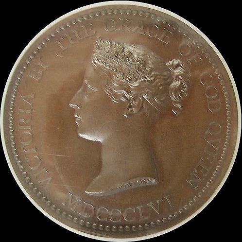 (ko)1856年 英国 ヴィク トリア 科学と芸術部門受賞記念銅メダル NGC MS 66BN!!