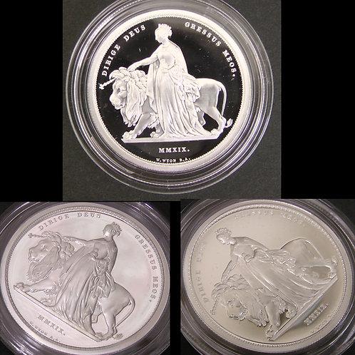 2019年 RoyalMint発行 ウナとライオン 2オンス 銀貨