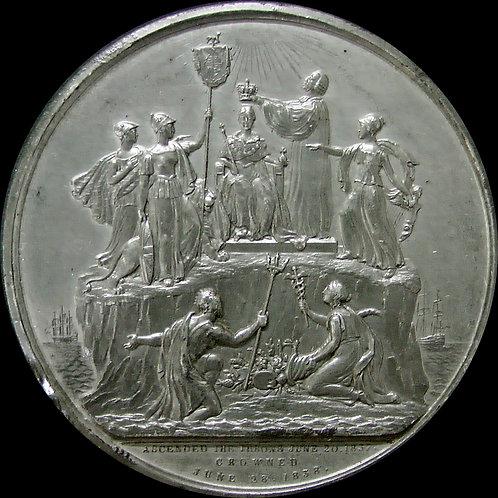 1838年 ヴィクトリア戴冠記念大型WMメダル オリジナルケース付き EIMER 1310