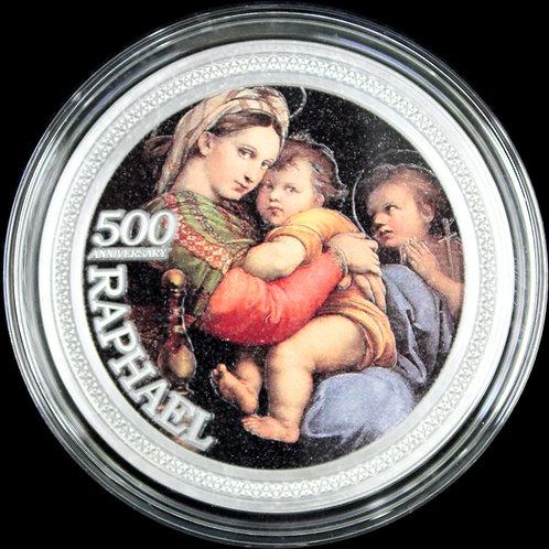 2020年ラファエル没後500周年記念「小椅子の聖母」大型コイン