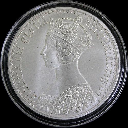 1847年ゴシッククラウンのパターンコイン
