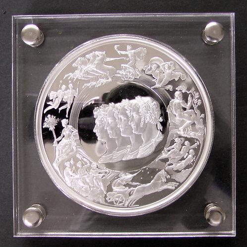 2015年 ワーテルローの戦い 200年記念メダル(鍍銀)