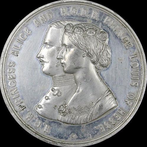 1862年 大英帝国 アリス皇女とルイス皇子ご成婚 WMメダル 51 mm