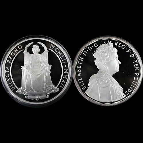 (ko)2012年 ダイヤモンド・ジュビリー 女王エリザベス2世即位60周年記念 5オンス銀貨 未鑑定 赤字出品