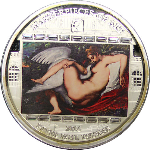 2014年 master of arts ルーベンス 作「レダと白鳥」3oz 銀貨