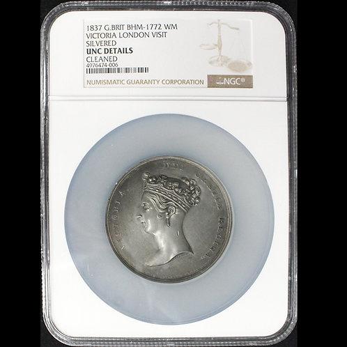 1837年 ヴィクトリア シティ・オブ・ロンドン訪問記念メダル(WM)