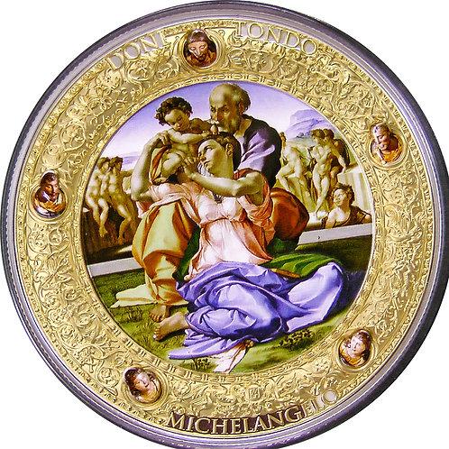 ミケランジェロ作「聖家族」の銀貨 2oz