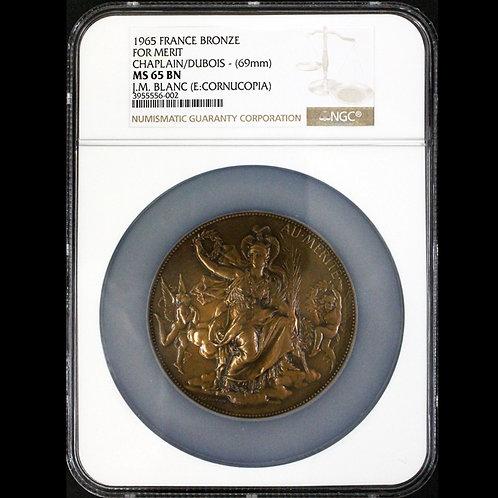 月桂冠を手に持ち座した女神ミネルフ(アールヌーボー)大型メダル
