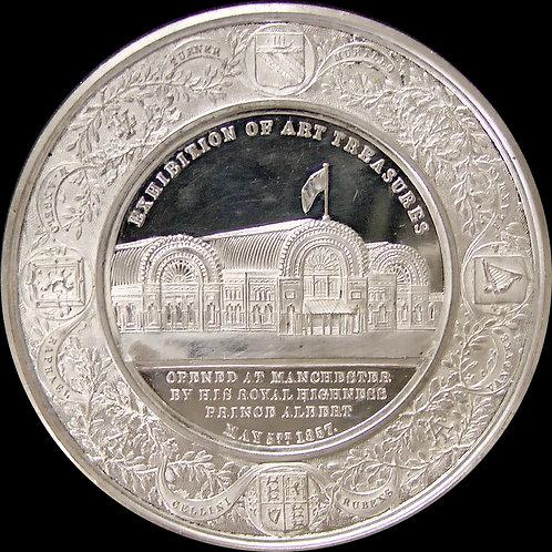 1857年 マンチェスター美術品展示会記念メダルProoflike!! ジョン・ピンチ作