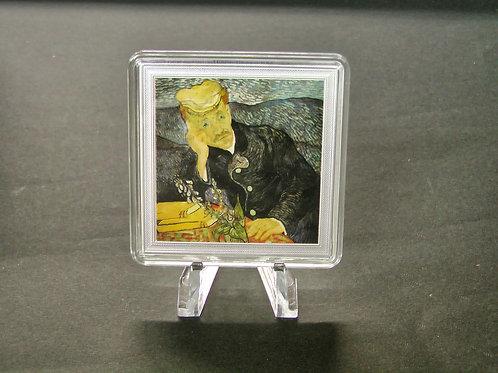 「医師ガシェの肖像」の銀貨