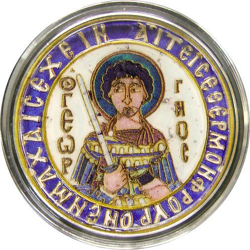 「聖ジョージ」の銀貨