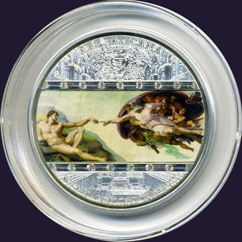 希少!2008年マスターオブアート「アダムの誕生」3oz銀貨