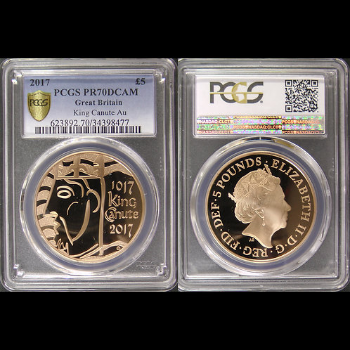2017年 イギリス 記念金貨5種セット PCGS鑑定済み