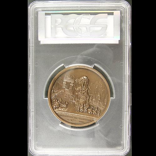1840年のナポレオン皇帝の葬儀記念銅メダル  パリ造幣局1974年発行