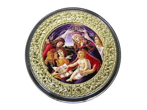 ボッティテェリ作 「マニフィカートの聖母」円形テンペラ 銀貨