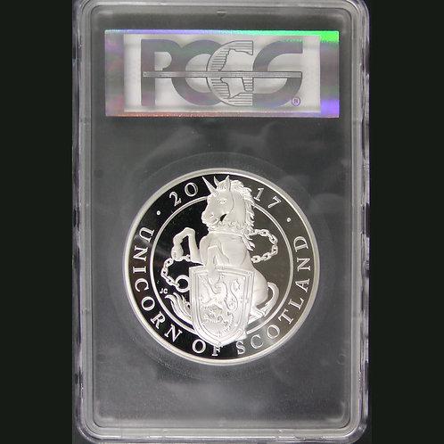 2017年 クイーンビースト ユニコーン 5オンス銀貨 PCGS PR66DCAM