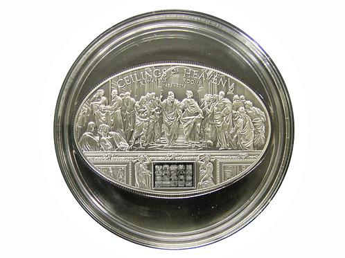 ナノチップ 2013年 ラファエロの4つの間のすべてのフレスコ画が描かれたナノチップの埋め込まれた銀貨